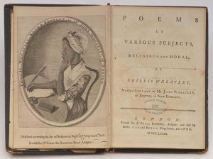 Frontispiece and Title Page, _Poems on Various Subjects, Religious and Moral_, Engraving attributed to Scipio Moorhead, 1773.