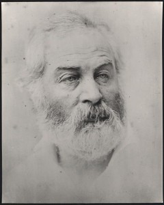 Walt Whitman, head-and-shoulders portrait, 1863