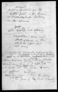 Page from Whitman's notebook LC #94, 1862
