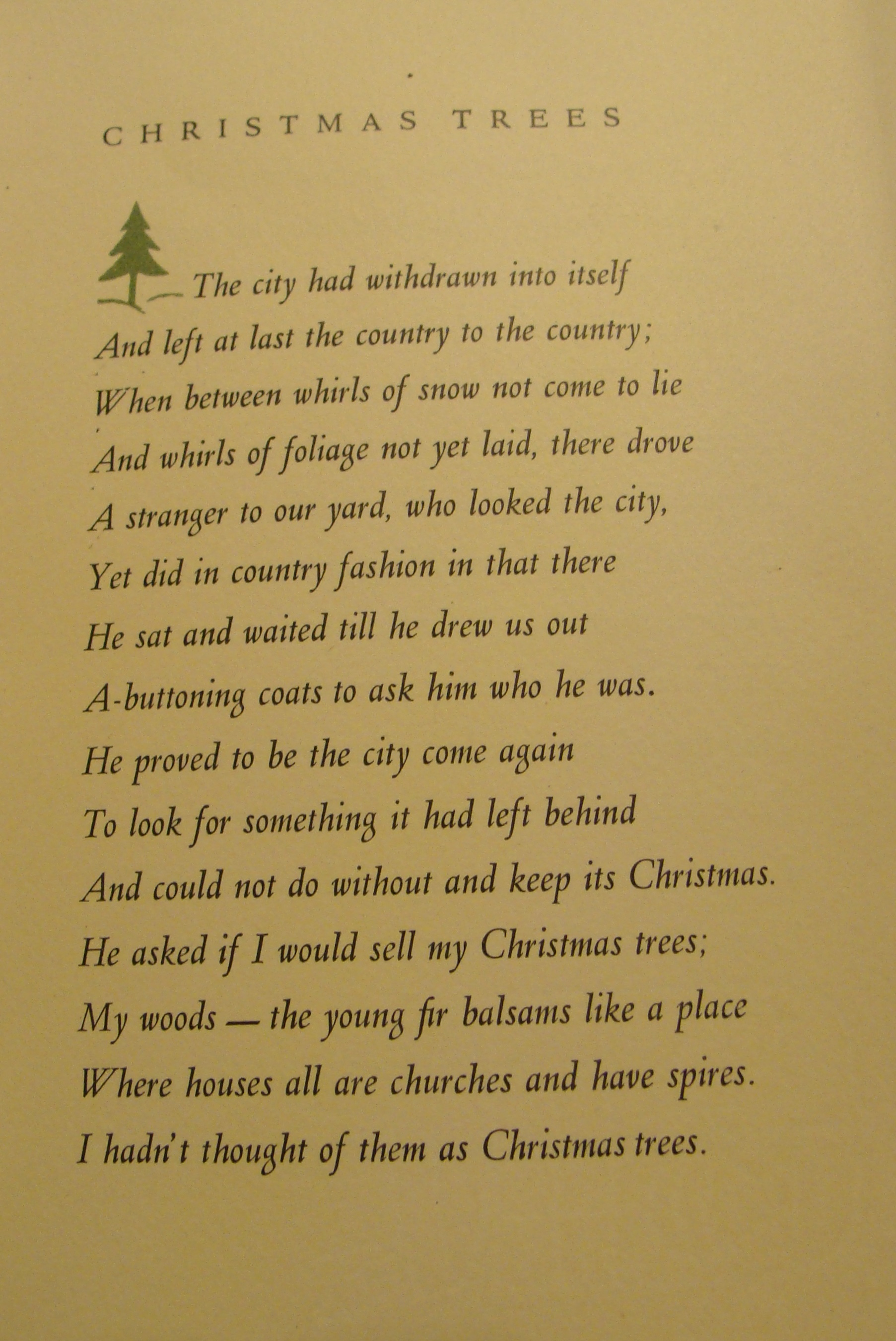 Christmas Greetings From Robert Frost From The Catbird Seat