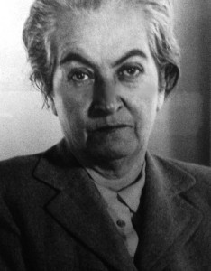 Gabriela Mistral. Photo taken by Catalina Gómez of portrait gifted to the Hispanic Division, Library of Congress.