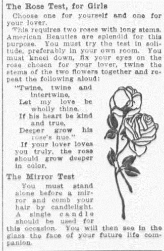 The Rose Test, for Girls