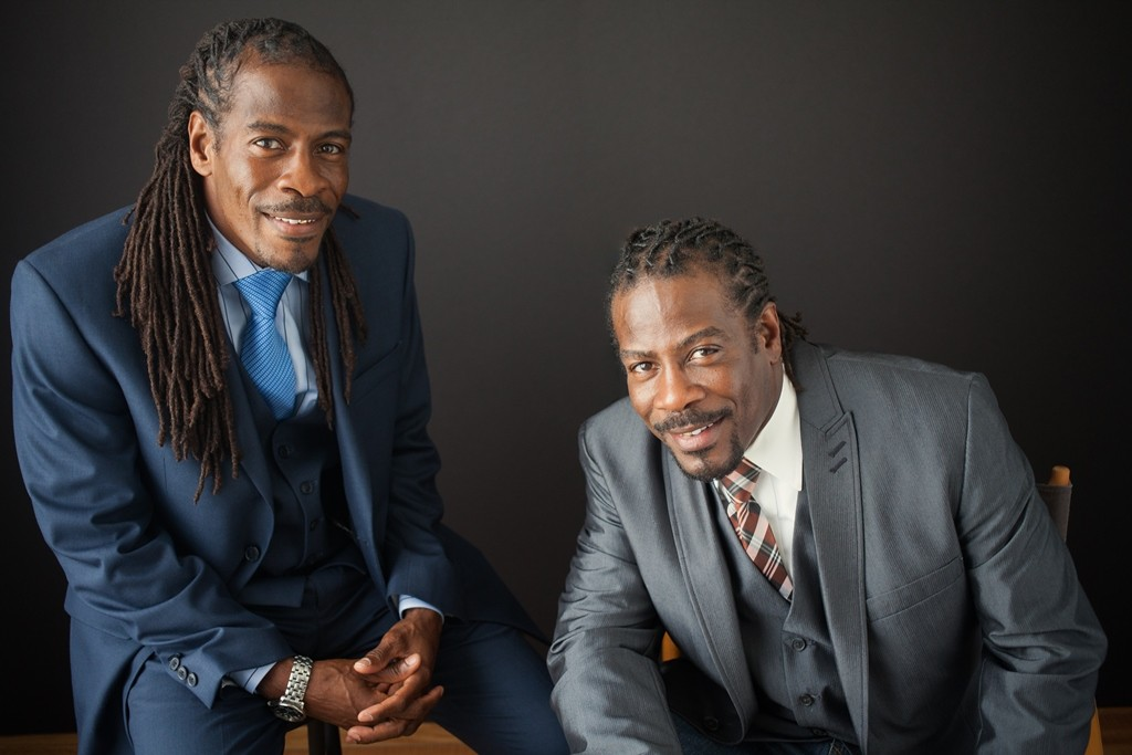 Nnamdi Chukwuocha and Albert Mills, the Twin Poets, were named the 17th Poets Laureate of Delaware. Photo by Cylinda McCloud-Keal.