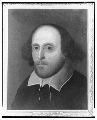 Folger Library Copy Work, Lumley portrait of Shakespeare. Horydczak Collection. Prints and Photographs Division.