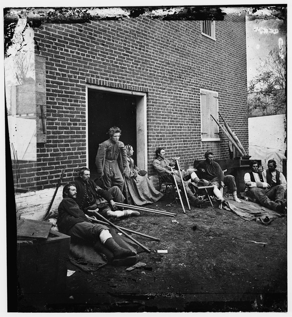 "Kearney's men wounded at Fredericksburg. May 20, 1864. <a href=""//hdl.loc.gov/loc.pnp/cwpbh.03386"">Civil War Glass Negatives and Related Prints, Prints and Photographs Division.</a>"