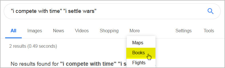 Switch your search results to the Google Books database by going to More>Books.