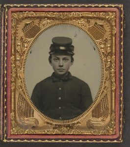Unidentified young soldier, ca. 1861-1865. Prints and Photographs Division, Liljenquist Family Collection. LC-DIG-ppmsca-36895 //hdl.loc.gov/loc.pnp/ppmsca.36895