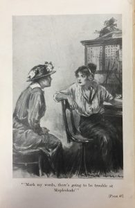 Frontispiece of Geraldine Bonner's The Girl at Central. (New York, D. Appleton and Company, 1915).