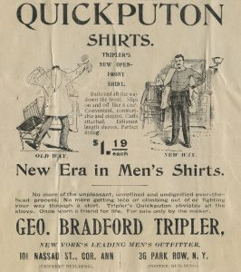 advertisement for shirt