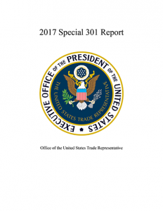 2017 Special 301 Report
