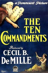 "Cecil B. DeMille's ""The Ten Commandments"" entered the public domain in the United States January 1, 2019."