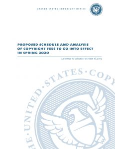 Proposed Copyright Fee Schedule