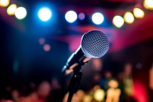 microphone image representing open mic night
