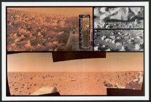 Images of the rocky surface of Mars
