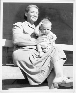 Myra Pipkin holding an unidentified child