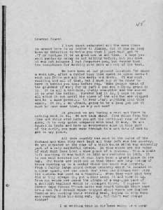 Letter to Clare, December 1917. Eugene A. Curtin Collection, Veterans History Project, AFC2001/001/1379