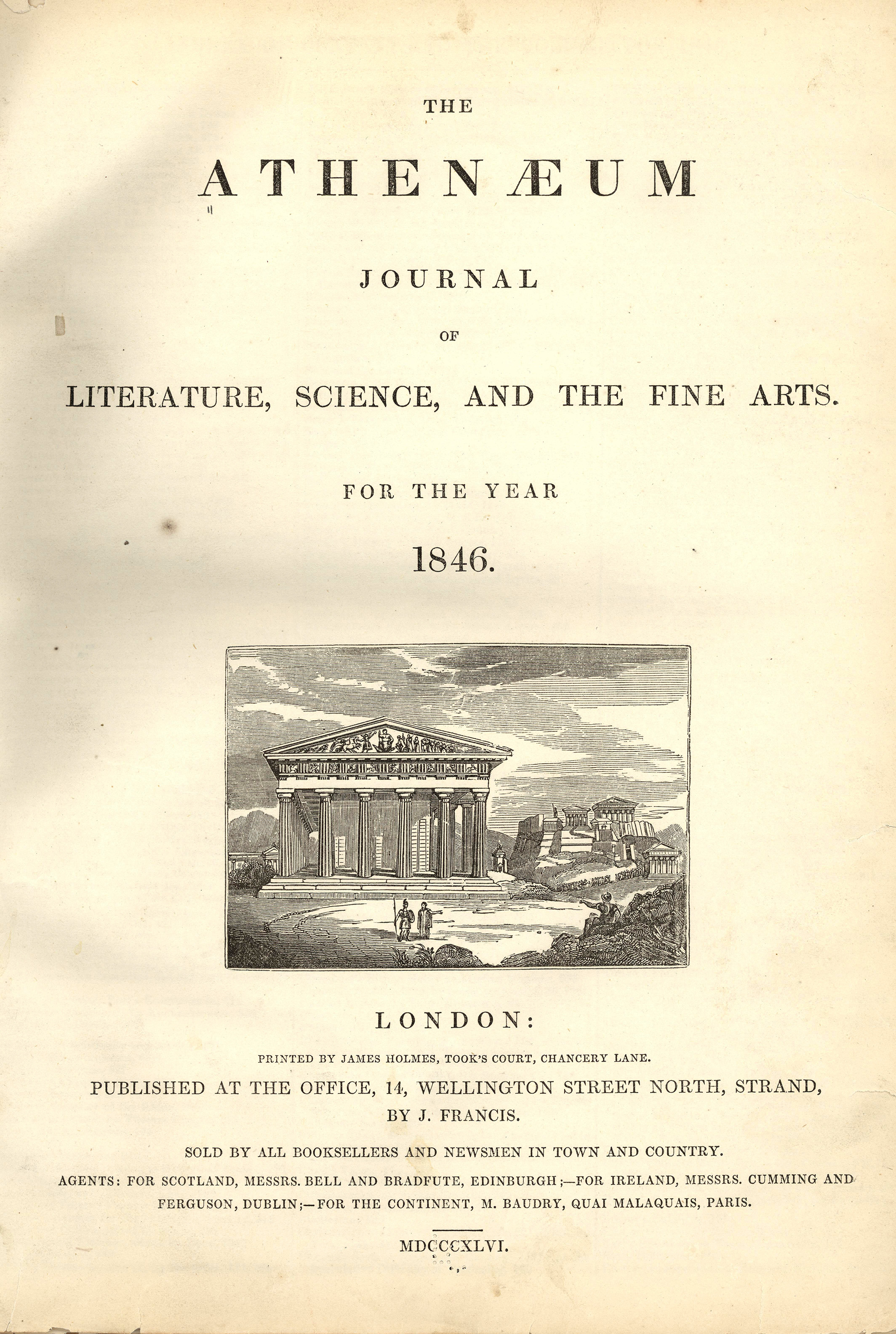 The Athenaeum was a literary magazine published in London from 1828 to 1921 [https://blogs.loc.gov]