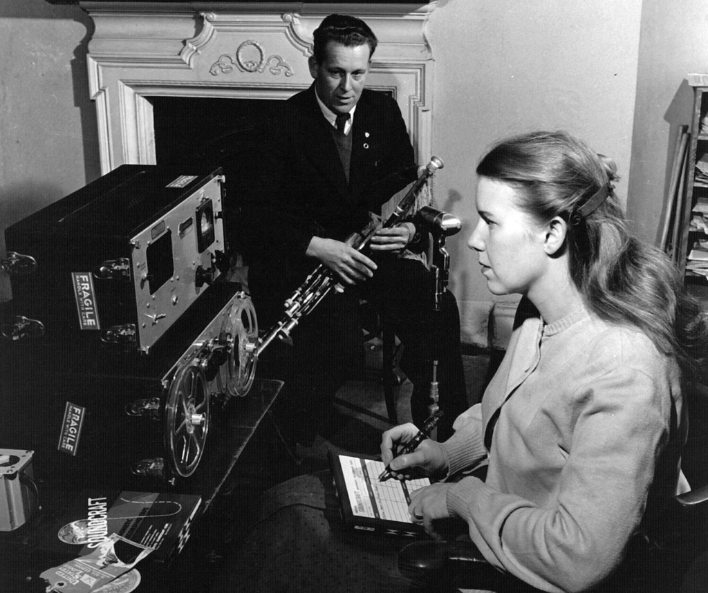 Jean Ritchie records uillean piper Michael Reagh in Ireland, 1953.