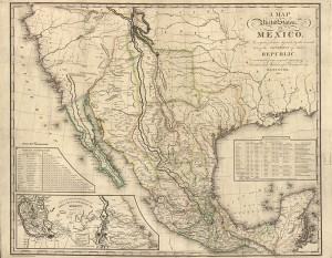 A map of the United States of Mexico, 1826.