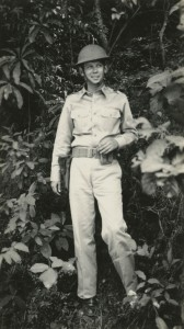 George Washington Pearcy in uniform in the Philippines, 1940. Veterans History Project, AFC2001/001/100245.