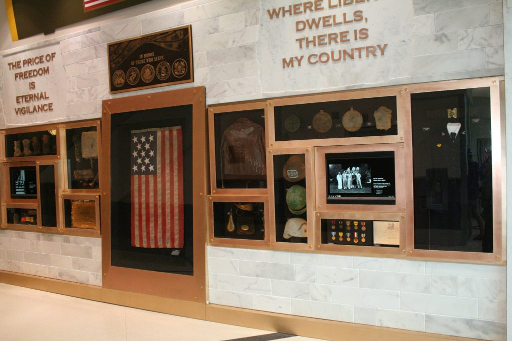 Wall display at Hartsfield-Jackson Atlanta Airport featuring photos from VHP collections. Photo by David Vogt.