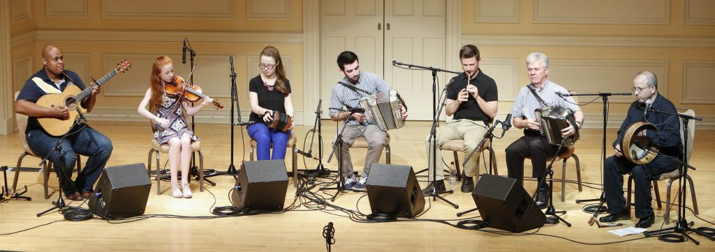 The Billy McComiskey Family Band performs traditional Irish music from Maryland as part of the American Folklife Center's Homegrown Concert Series, June 28, 2016. Photo by Shawn Miller.