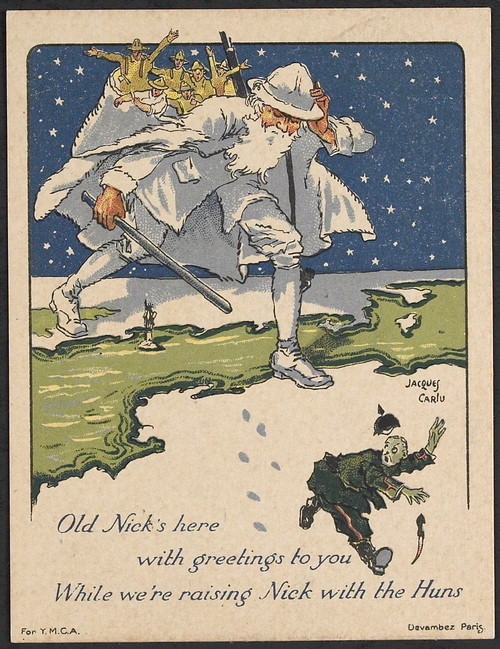 The front of a Christmas card sent by William Bean. William James Bean Collection, Veterans History Project, AFC2001/001/24749.