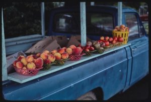 Truck with peaches