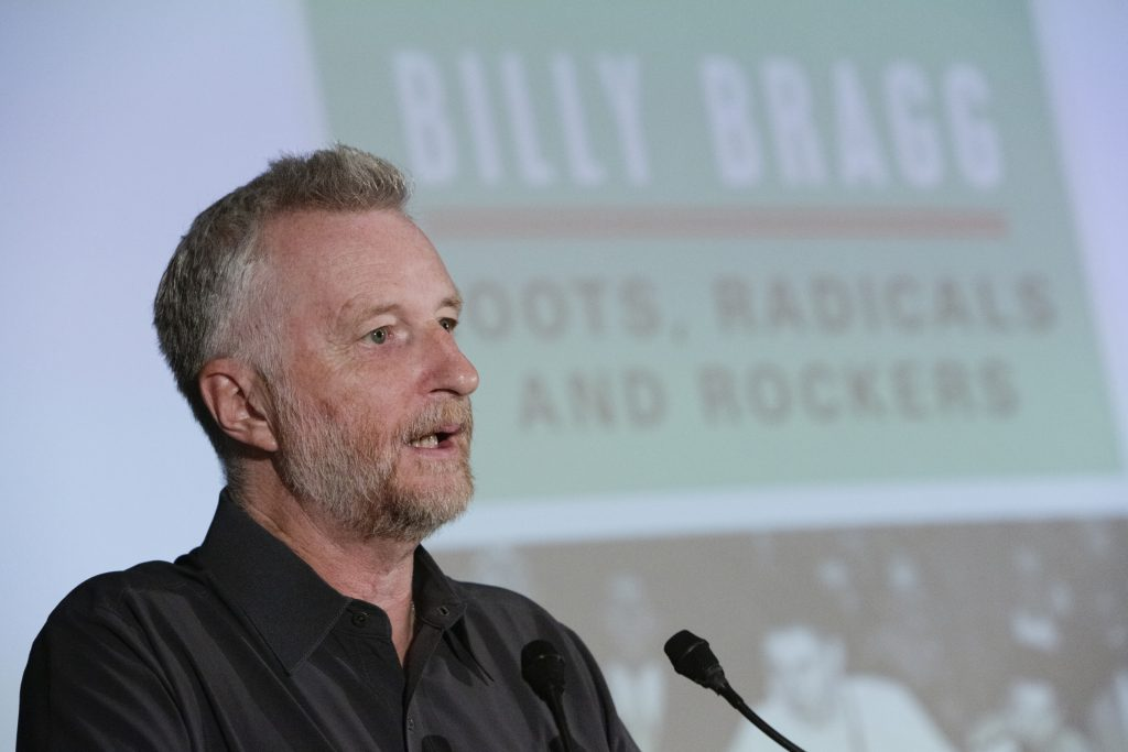 Head and shoulders portrait of Billy Bragg