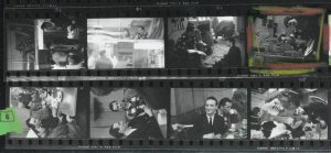 Contact sheet for black and white film