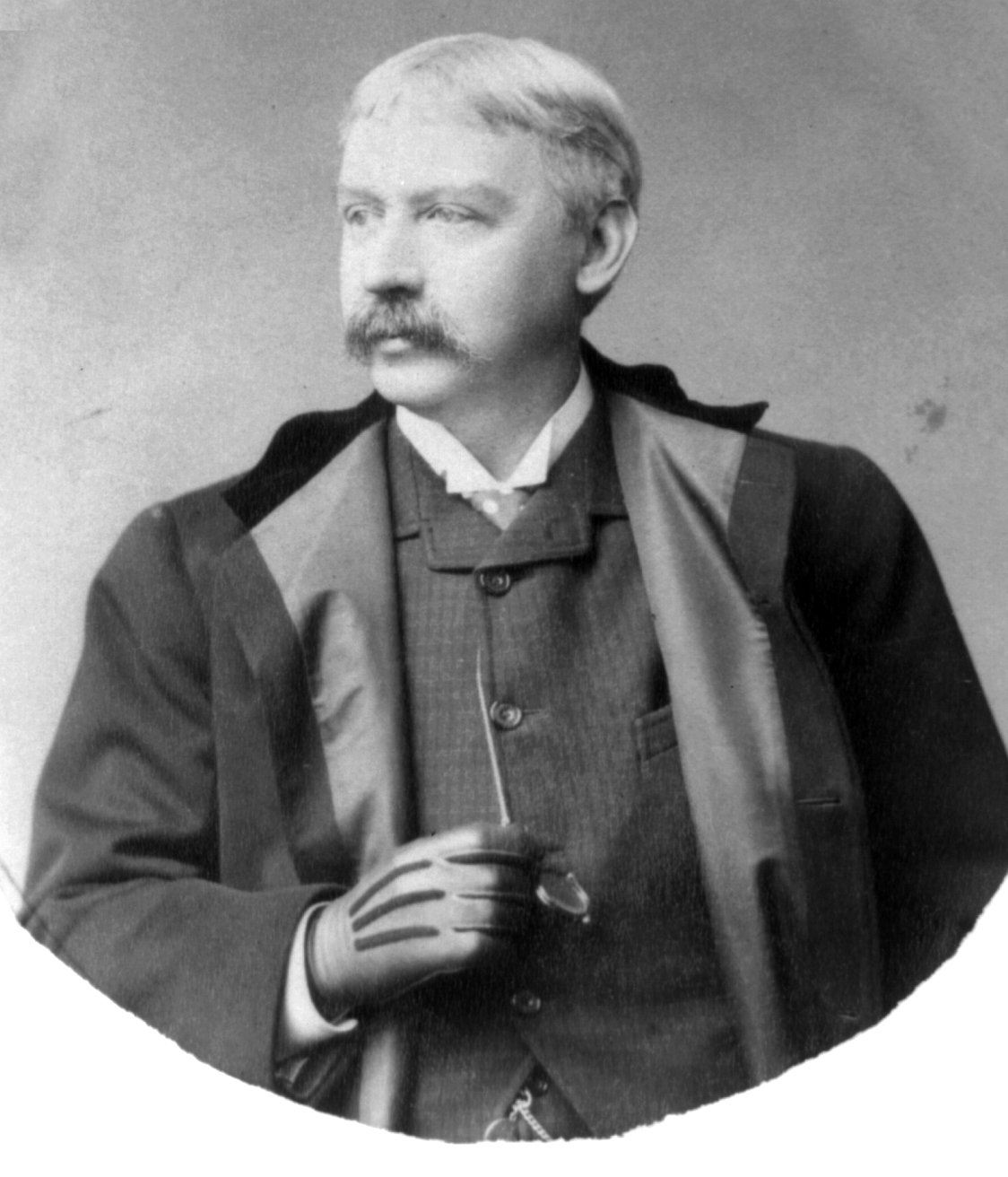 Bret Harte, half-length portrait, facing left.