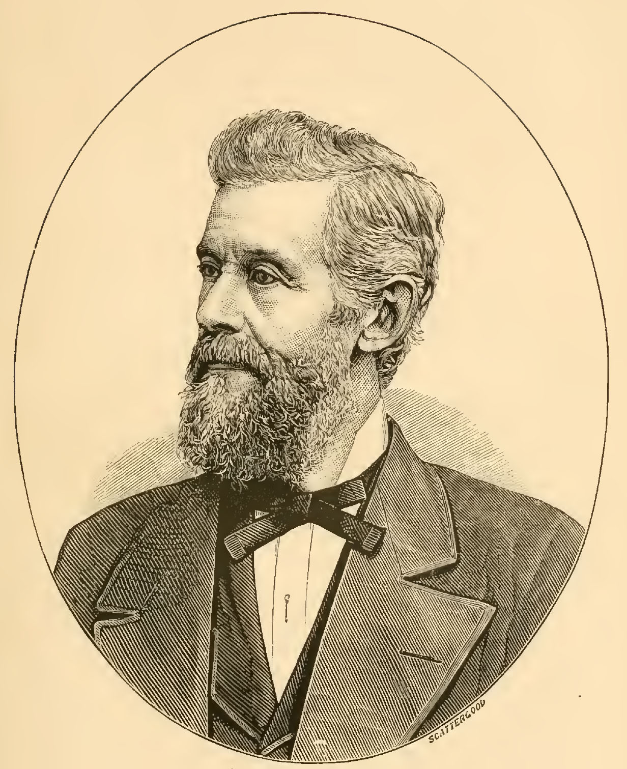 Head and shoulders portrait engraving of Samuel C. Upham