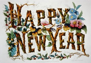 Happy New Year Currier & Ives, c1876
