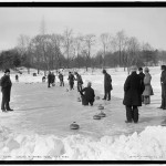 Curling in Central Park, New York (1900-1906)