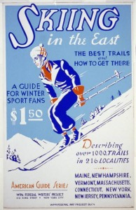 WPA Poster Skiing in the East (1936-39)