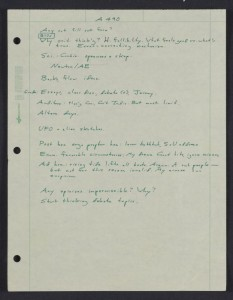 Astronomy 490, Cornell University : lecture notes (Carl Sagan, 1986). From the The Seth MacFarlane Collection of the Carl Sagan and Ann Druyan Archive, Library of Congress.