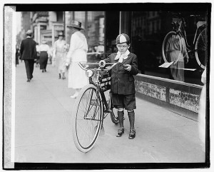 Times boy on bicycle [1921]