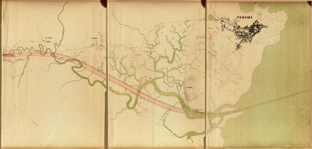 [Maps of proposed Panama Canal between Gorgona and Panama City] c1895. http://www.loc.gov/item/93680805/