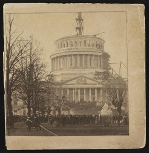 Inauguration of Abraham Lincoln at the U.S. Capitol.