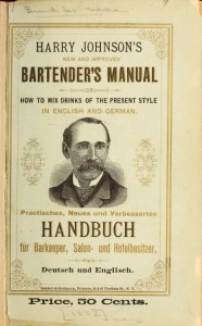 Cover from Harry Johnson's new and improved bartender's manual...(New York, Samisch & Goldmann, printers, c1882)