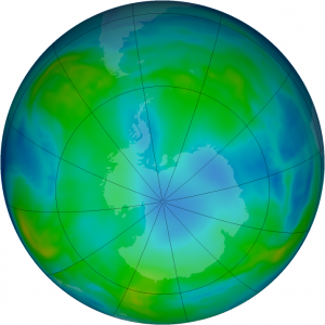Ozone Hole Watch (May 19, 2015). Image from NASA.