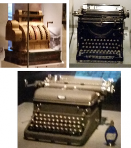 Image of items at the Smithsonian's American Enterprise exhibit. July 2015.