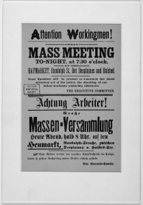[Attention workingmen! great mass meeting to-night, at 7:30 o'clock, at the Haymarket, Randolph St., bet. Desplaines and Halsted] //www.loc.gov/item/97165220/