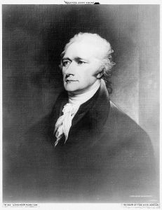 Photograph of Alexander Hamilton's portrait by John Trumbull (Detroit Publishing Co.) //hdl.loc.gov/loc.pnp/det.4a26166