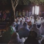 """Groups of women gather to recite hymns in praise of the Prophet Muhammad on the night of the Mawlid celebrations that commemorate the birth of the Prophet Muhammad."" Huddleston, Alexandra, 1977-, photographer. Created / published April 5, 2007. Used with permission."