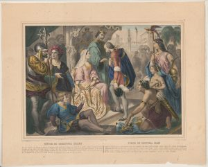 Columbus greeted by Ferdinand and Isabella