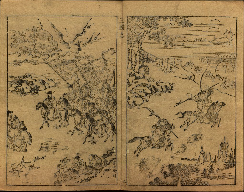 Figure-5: The illustrated fight scenes of famous generals in the story of Three Kingdoms.