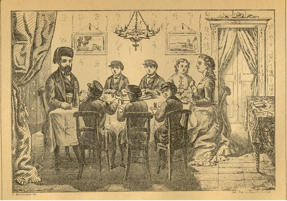 Haggadah from Corfu. Engraved by A. Heinemann. 1877.