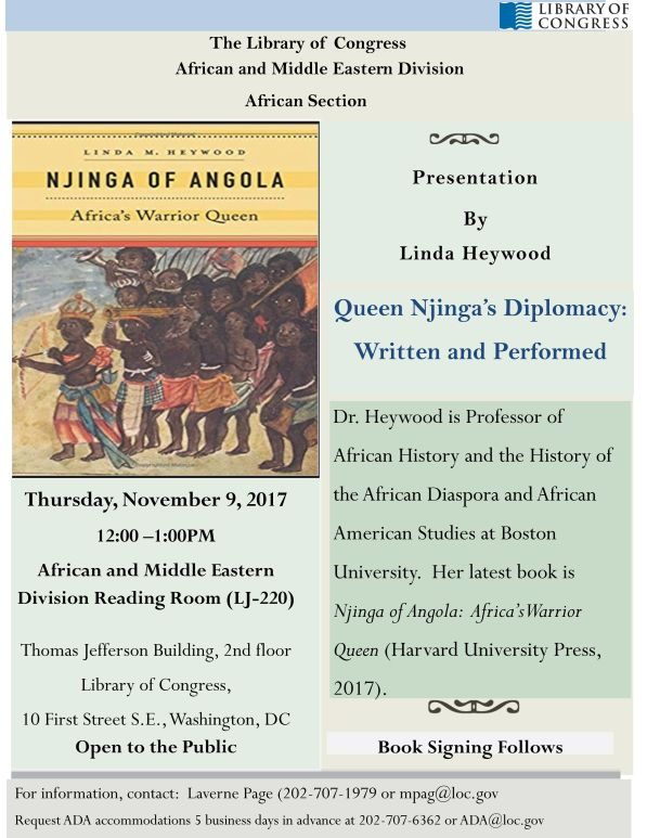 Queen Njinga's Diplomacy Flyer