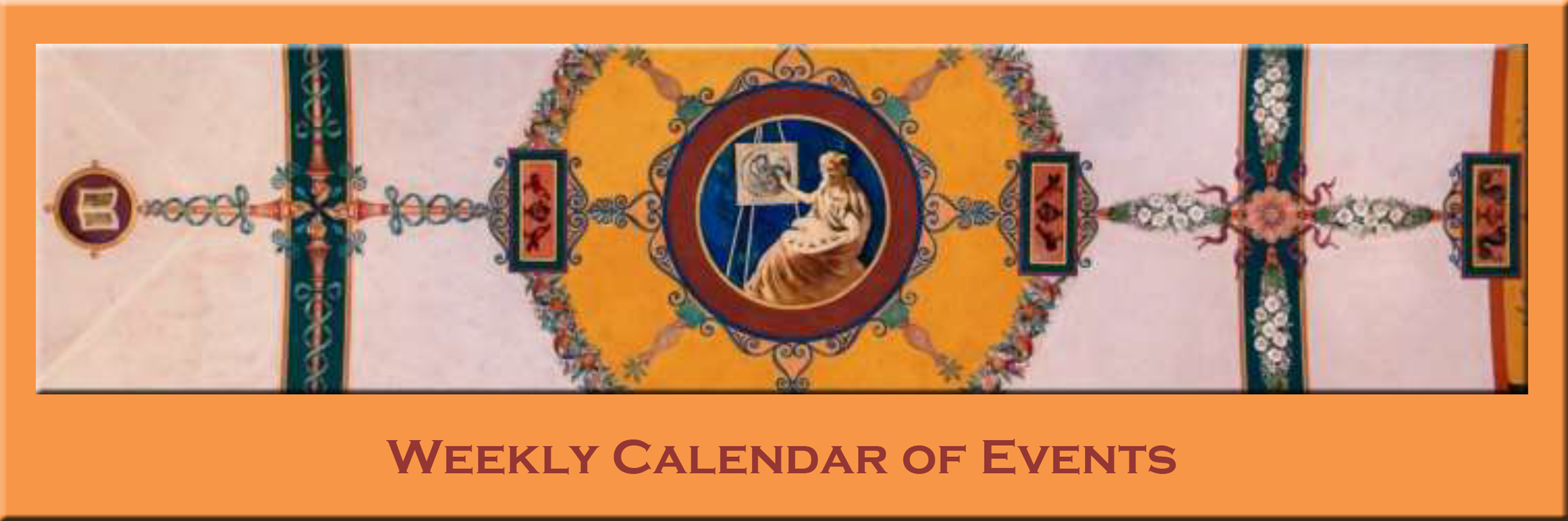 Weekly Calendar of Events Banner